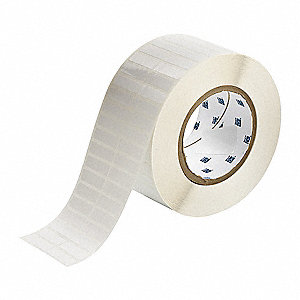 "Polyester Thermal Transfer Label, White, 1-1/4""W x 3/8"""