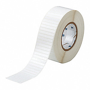"Polyester Thermal Transfer Label, White, 2""W x 1/4"""