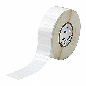 "Polyester Thermal Transfer Label, White, 2""W x 13/32"""