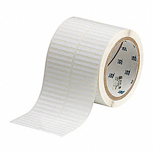 "Polyester Thermal Transfer Label, White, 1/8""W x 1-1/2"""