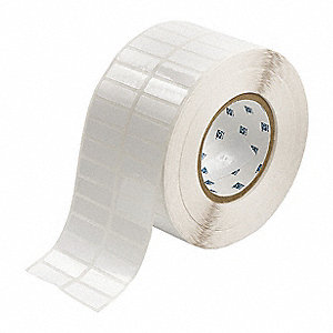 "Polyester Thermal Transfer Label, White, 1-1/2""W x 1/2"""