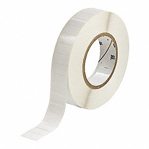 "Polyester Thermal Transfer Label, White, 1""W x 1/2"""