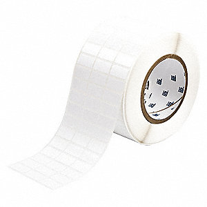"Repositionable Vinyl Cloth Thermal Transfer Label, White, 1""W x 1/2"""