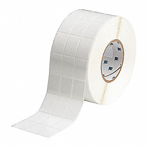 "Repositionable Vinyl Cloth Thermal Transfer Label, White, 1""W x 1-7/16"""
