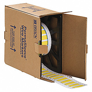 "Yellow, 1000 Labels per Roll  41/64"" H x 2"" W, 1 EA"