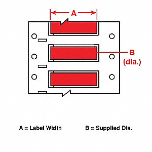 Wire Marking Sleeves,Red,2 In W