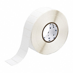 "Nylon Cloth Thermal Transfer Label, White, 2""W x 1"""