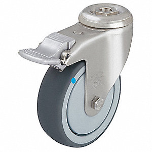"4"" Bolt Hole Caster with 240 lb. Load Rating and Ball Caster Wheel Bearings"