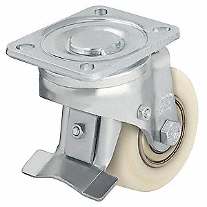 "3-1/8"" Plate Caster, 1540 lb. Load Rating"