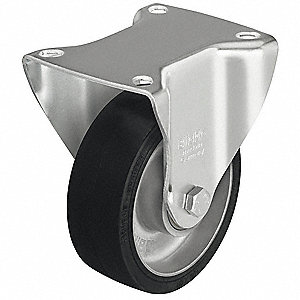 "4"" Plate Caster, 220 lb. Load Rating"