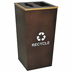 Recycling Container,Brown,34 gal.
