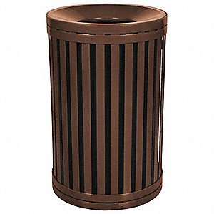 45 gal. Round Brown Trash Can