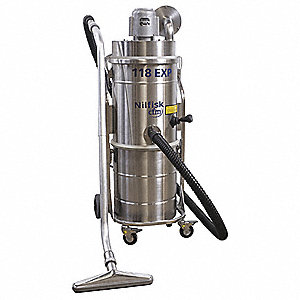 13 gal. Industrial Series Explosion Proof Dry Vacuum, 130 cfm, 1-5/16 HP, 10 Amps, HEPA Filter Type