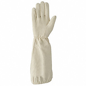 Glove, Antiflash, White, FR Cotton Flannel Cloth, Size One Size Fits All