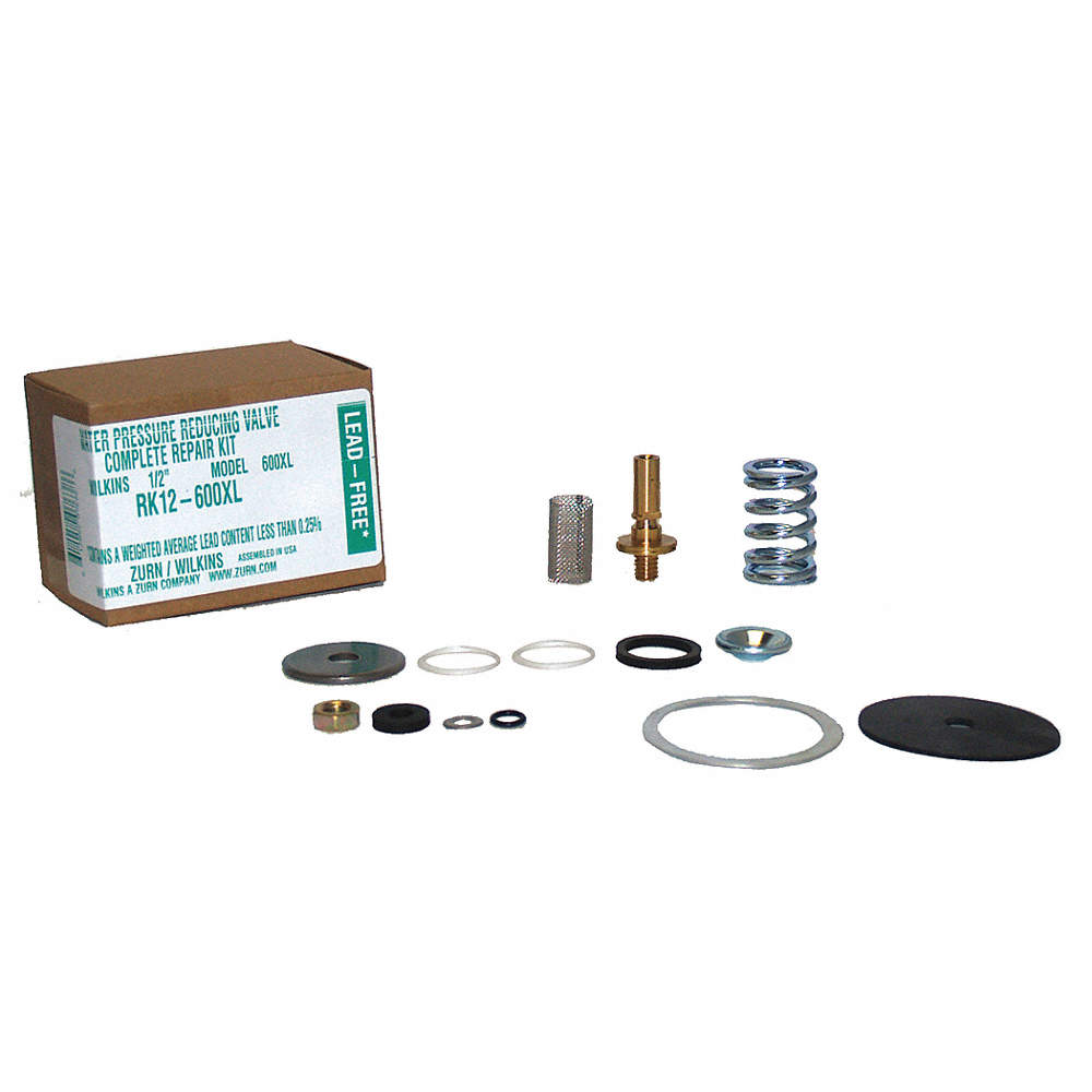 Repair Kit, Rubber, Steel, Zinc, Brass, 22N570 For Use With