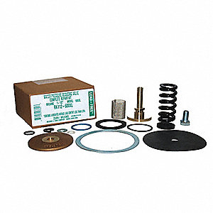 Repair Kit, Rubber, Steel,  Zinc, Brass, For Use With Mfr. No. 112-600XL