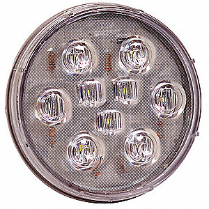 Back Up Lamp,9 LED,Round,12.8V