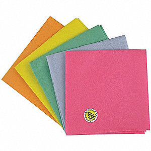 Shammy,15x15 In,Assorted Colors,PK5