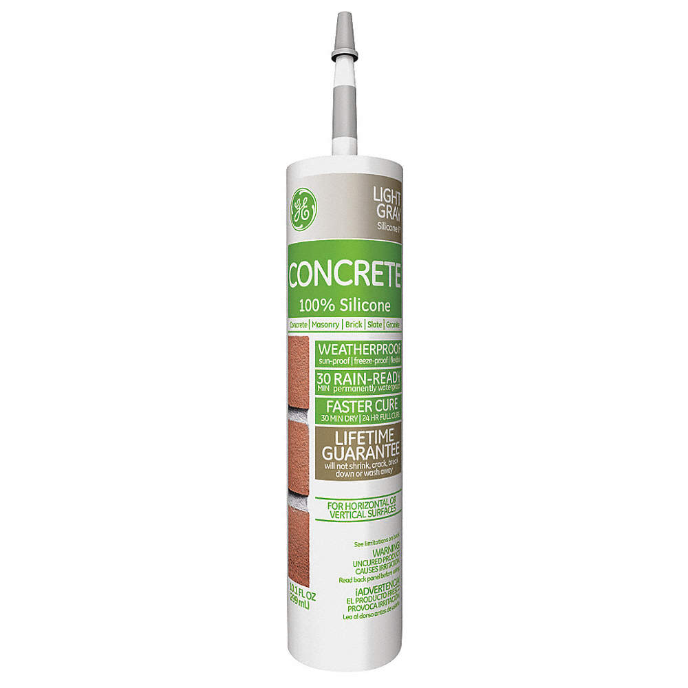 Light Gray Sealant, Silicone, 10 1 oz  Cartridge