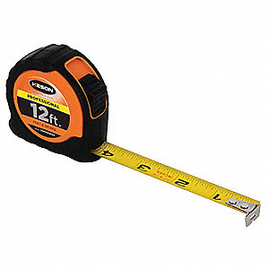 MEASURING TAPE,5/8 IN X 12 FT,ORANG