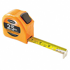 25 ft. Steel SAE Engineers Tape Measure, Orange