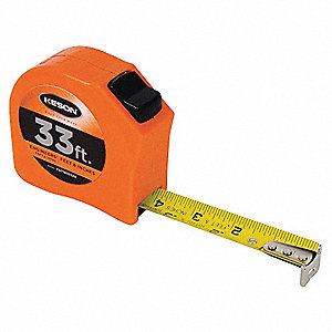 33 ft. Steel SAE Engineers Tape Measure, Orange