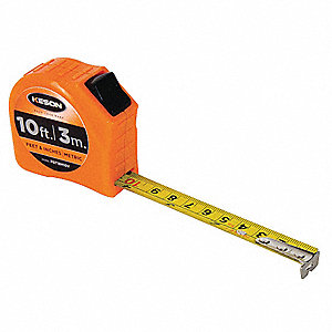 MEASURING TAPE,5/8 IN X 10 FT/3M,OR