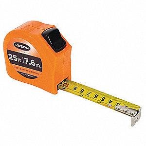 MEASURING TAPE,1 IN X 25 FT/75M,ORA