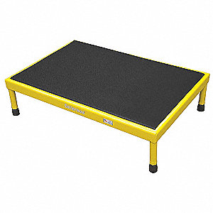 "Work Platform, Steel, Quad Access Platform Style, 9"" to 14"" Platform Height"