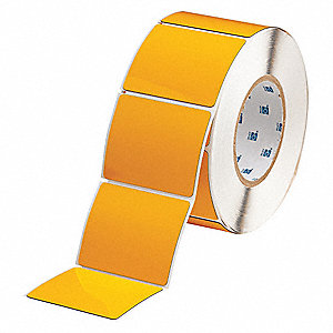 "Raised Panel Polyester Thermal Transfer Label, Yellow, 3""W x 2-1/2"""
