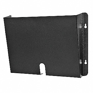 "14-1/2"" x 2-1/2"" x 9-3/8"" Steel HIPPA Wall Pocket, Black"