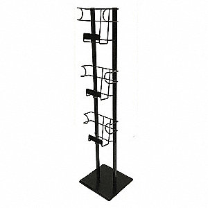 Magazine Rack,48 in.x12 in.x12 in.,Black