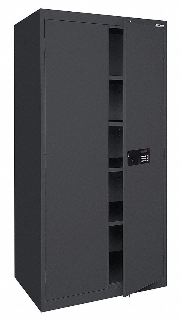 Sandusky Storage Cabinet 72x36x18 Black 22nd35 Ea4e361872 09 Grainger