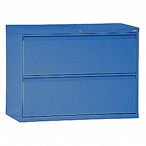 Lateral File Cabinet,2 Drawer,Blue