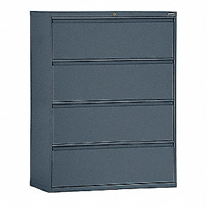 sandusky lateral file cabinet 4 drawer charcoal 22nd52 lf8f364 02 rh grainger com lateral filing cabinet 4 drawers lateral file cabinet 2 drawers 28 high