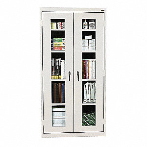 Storage Cabinet,72x36x18,Dove Gray