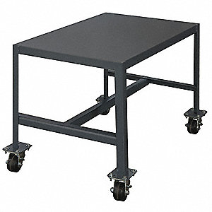 "Fixed Height Work Table, 18"" Depth, 42"" Height, 24"" Width,2000 lb. Load Capacity"