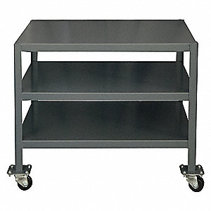 "Fixed Height Work Table, 18"" Depth, 30"" Height, 36"" Width,2000 lb. Load Capacity"