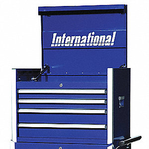 PRO 27IN 4 DRAWER CHEST BLUE