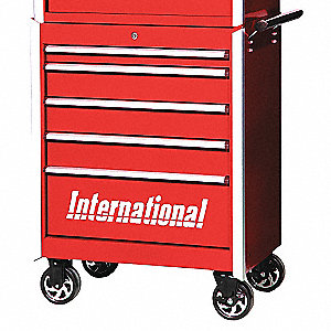 PRO 27IN 5 DRAWER CABINET RED