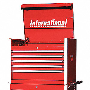 PRO 27IN 5 DRAWER CHEST RED