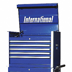 PRO 27IN 5 DRAWER CHEST BLUE