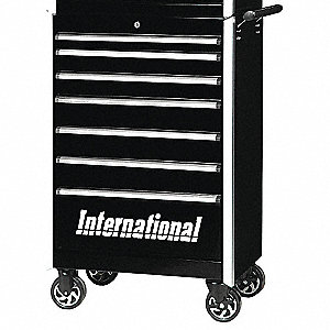 PRO 27IN 7 DRAWER CABINET BLACK