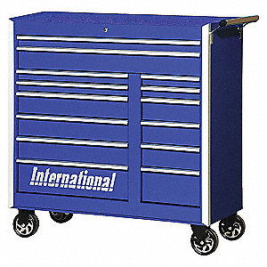 PRO 42IN 14 DRAWER CABINET BLUE