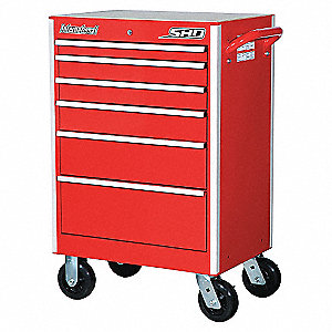 SHD 27IN 6 DRAWER CABINET RED