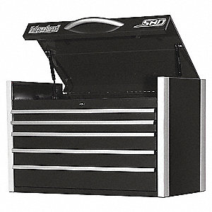 SHD 35IN 5 DRAWER CHEST BLACK