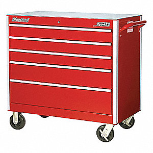 SHD 42IN 5 DRAWER CABINET RED