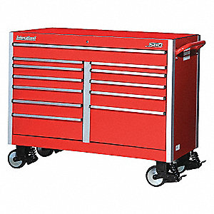 SHD 54IN 12 DRAWER CABINET RED