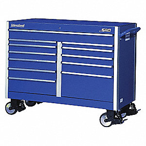 SHD 54IN 12 DRAWER CABINET BLUE
