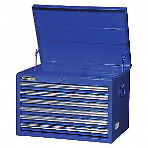 27IN 6 DRAWER DEEP CHEST BLUE